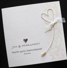 handmade wedding cards | Handmade 50th Golden Gold Wedding Anniversary Card