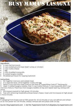 Get the Tupperware Cook-It at abigailjoy.my.tupperware.com! Lasagna Ingredients, Tupperware Recipes, No Noodle Lasagna, Ground Meat, Egg Cups, Marinara Sauce, Ricotta, Allrecipes, Mozzarella