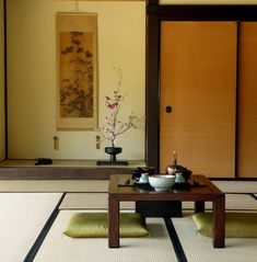 Japanese tea room..