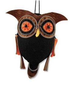 Bethany Lowe Hanging Zipper Owl  Ornament
