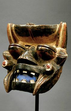 Africa | Bété Guéré Wé mask from Liberia | Wood, pigment and polychrome paint African Masks, African Art, African Sculptures, Art Premier, Art Africain, Liberia, Masks Art, Historical Art, Fashion Painting