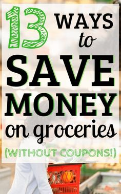 18 Tricks for Saving Money on Groceries Without Coupons - Save Money on Groceries! Save money on food. Grocery budget, budgeting, Frugal tips, Frugal living. Money Saving Meals, Save Money On Groceries, Ways To Save Money, Money Tips, Save Money On Food, Groceries Budget, Money Savers, Frugal Living Tips, Frugal Tips
