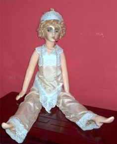 All Composition Smoker Boudoir Doll
