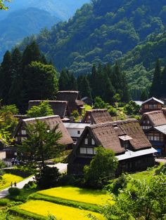The lovely Gokayama Village, Toyama in summer. Beauty Around The World, Beautiful Places In The World, Beautiful Places To Visit, Travel Around The World, Places To See, Around The Worlds, Amazing Places, Japanese Architecture, Beautiful Architecture