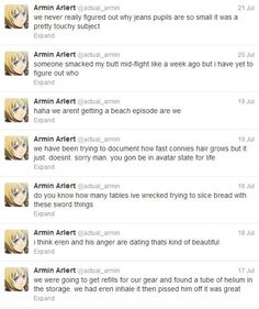 Armin being funny again