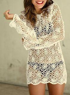 Lacy Daisy Tunic free crochet graph pattern