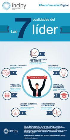 Las 7 cualidades del Líder #infografia #infographic #leadership