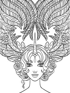 Free Printable Adult Coloring Pages With Long Hair Girls Free Print