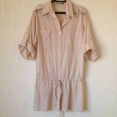 Camisa Longa Creme - 969644 | enjoei :p