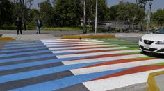 Cruz Diez, Color Aditivo, 2012, amazing crossing in Mexico