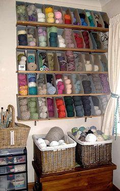 ranger laine et matériel de tricot visiblement