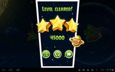 Angry Birds win menu