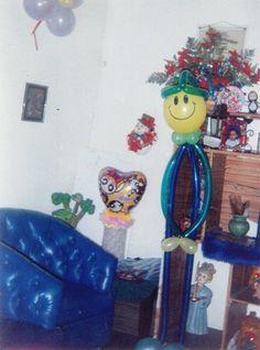 Hombre de globo para decorar cumpleaños