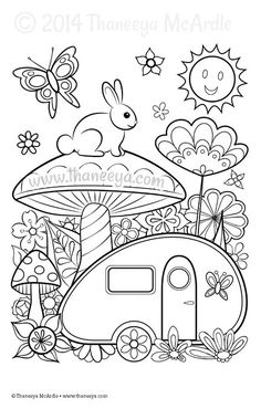 Color Dreams Coloring Page Blank by Thaneeya