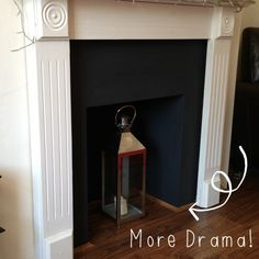 Creating a fake fireplace
