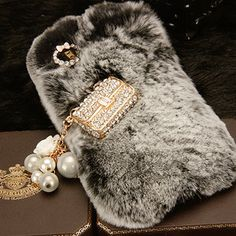 Warm Soft Fur Feather Crystal IPhone 5 Lace Flower Crystal Case Iphone 5Case Iphone Hard Case Iphone Cover Bling Case Gem