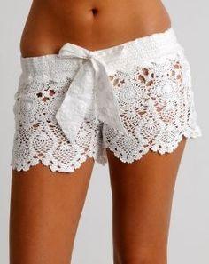 Crochet shorts.