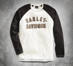 What a rider wears when he's ready to get away from it all. #ValentinesDay | Harley-Davidson Men's Genuine Classics Long Sleeve Tee