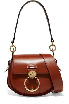 783fd9b2c436 Chloé - Tess leather and suede shoulder bag