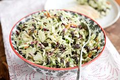 Mexican Slaw Salad---make it low carb without the beans!