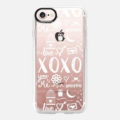 xoxo hugs and kisses white - Classic Grip Case