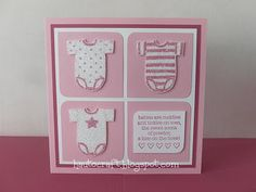 Hau To Craft: Baby Tees - Baby Girl Square Card