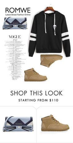 """""""Romwe contest"""" by kreka-1 ❤ liked on Polyvore featuring Karl Lagerfeld and UGG Australia"""