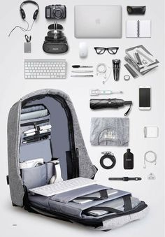 Mark Ryden Smart Bag - ipad - Ideas of ipad - Rolldown Backpack Technology Gadgets, Tech Gadgets, Travel Gadgets, Cooler Stil, Stationary Items, Mark Ryden, Accessoires Iphone, Anti Theft Backpack, What In My Bag