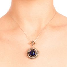 The Zerbap Camelia Pendant  with Zircon Ruby Stones by Rosestyle, $49.00