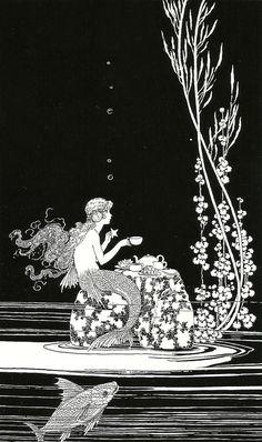 """Ida Rentoul Outhwaite """"The Merman's Glass House"""" 1923"""