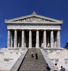 Close to Regensburg is the Walhalla Memorial ~ It's modelled on the Parthenon in Athens, perched on a Bavarian hill ~ Germany