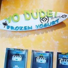 After meal, it's a Yo Dude frozen yogurt time....  Life is good....#beachburrito #yodudefroyo