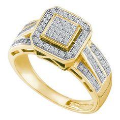 1/4CT-Diamond MICRO-PAVE RING