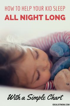 Desperate for your kid to sleep through the night? Try this simple parenting tip to stop night wakings. This reinvented sticker chart will keep working long after the stickers run out!