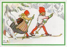AK - Künstlerkarte - AINA STENBERG -  Gelaufen 1986 Schweden