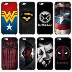 Marvel Hero Captain America Joker Deadpool Superman Spiderman Shield Assorted Designs Cover Fundas For iPhone 6 6S Plus 5S Case // iPhone Covers Online //   Price: $ 9.95 & FREE Shipping  //   http://iphonecoversonline.com //   Whatsapp +918826444100    #iphonecoversonline #iphone6 #iphone5 #iphone4 #iphonecases #apple #iphonecase #iphonecovers #gadget #gadgets