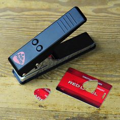 Awesome punch that cuts a guitar pick from used gift cards, expired credit cards, etc.  Only $25.  I know at least three people who NEED this gift!