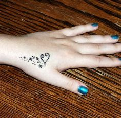 Little heart tattoo- love but not sure about the placement, maybe back of neck? Foot?