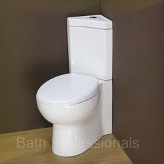 Corner toilet to max space under stairs  Toilet WC Corner Bathroom Close coupled New Ceramic Soft Closing Seat Cloakroom in Home, Furniture & DIY, Bath, Toilets & Bidets | eBay