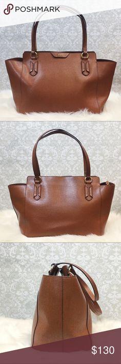 59a82fbf5d Ralph Lauren Leather Tate Modern Shopper Tote Bag Pre loved Ralph Lauren  brown tate modern shopper