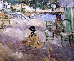"Berthe Morisot (1841-1895), ""The Beach at Nice"""