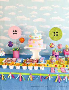 Lalaloopsy Party Garland Ribbon Garland Sweet by partyshoppe Party Garland, Ribbon Garland, Joint Birthday Parties, Lalaloopsy Party, Cupcakes, Party Time, Party Party, Childrens Party, Party Cakes