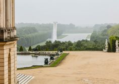 Olafur Eliasson installs giant waterfall at Palace of Versailles.