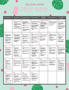 Your July Workout Calendar! Workout Pics, Abs Workout Video, Six Pack Abs Workout, Abs Workout Routines, Abs Workout For Women, Ab Workout At Home, Ab Workouts, Monthly Workouts, Men Exercise