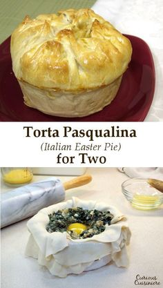 Torta Pasqualina is a traditional Italian Easter Pie with layers of flaky pastry, filled with a mixture of greens, and studded with hard cooked eggs. We've made these individual Easter pies, which make for a fun presentation at Easter brunch or dinner. Spring Recipes, Easter Recipes, Brunch Recipes, Easter Ideas, Oven Recipes, Recipes Dinner, Holiday Recipes, Appetizer Recipes, Italian Easter Pie