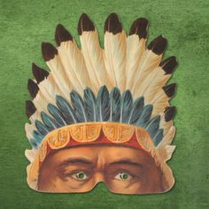 All-American Rejects Mask – Indian Brave - All-American Rejects - Mamelok Papercraft - Embossed, diecut Victorian scrap reliefs, cards, masks, cards, friezes, garlands, dress-up dolls