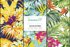 TROPICAL SUMMER PRINT by TSTUDIO on @creativemarket