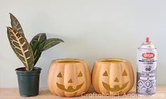DIYPumpkin Planters by: Lidy from Hello Lidy   Halloween is quickly approaching and we are getting the house ready for the season!If you are anything like me, you're a sucker for all those gorgeous seasonal decor pieces that are starting t