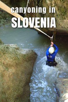 Great adventure canyoning near Lake Bohinj, in Slovenia.