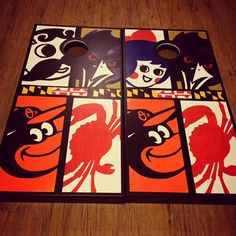 All Things Baltimore 4 Corner Themed Cornhole Boards